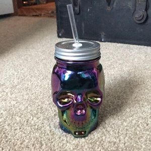 NWT Skull Sipper glass cup